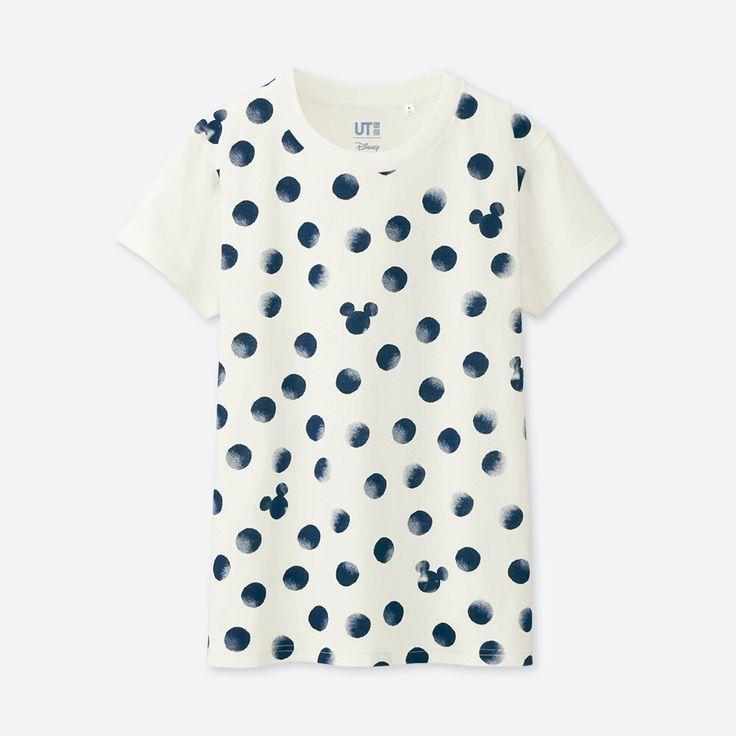 WOMEN Mickey Blue Short Sleeve Graphic T-Shirt