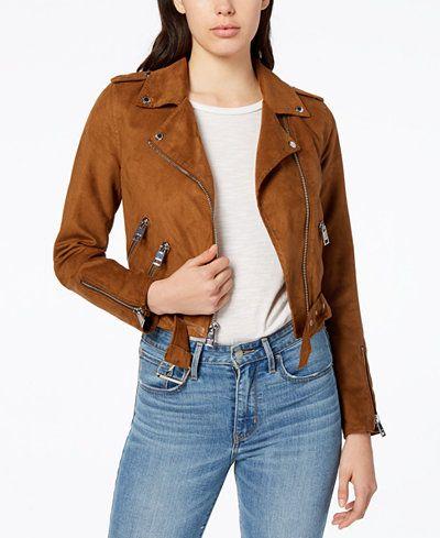 9c087ecc4ea6 Levi s® Cropped Faux-Suede Moto Jacket