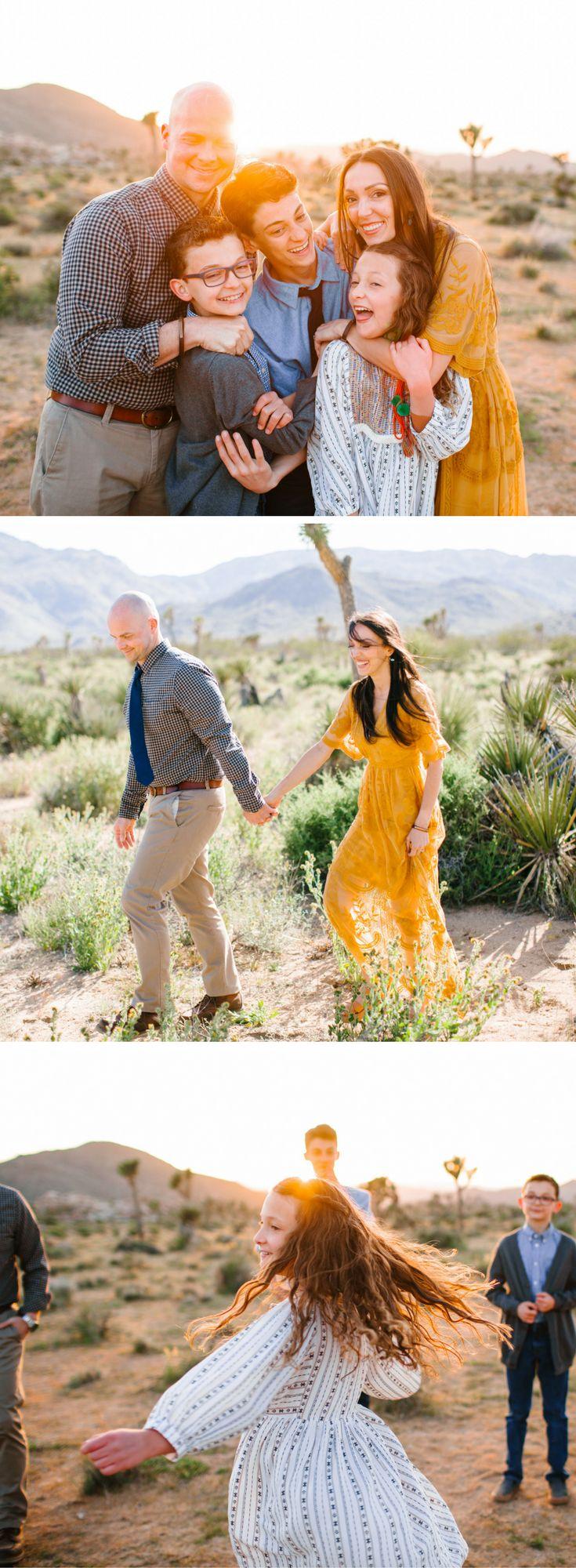 Boho Desert Family photo shoot ideas - Joshua Tree, CA