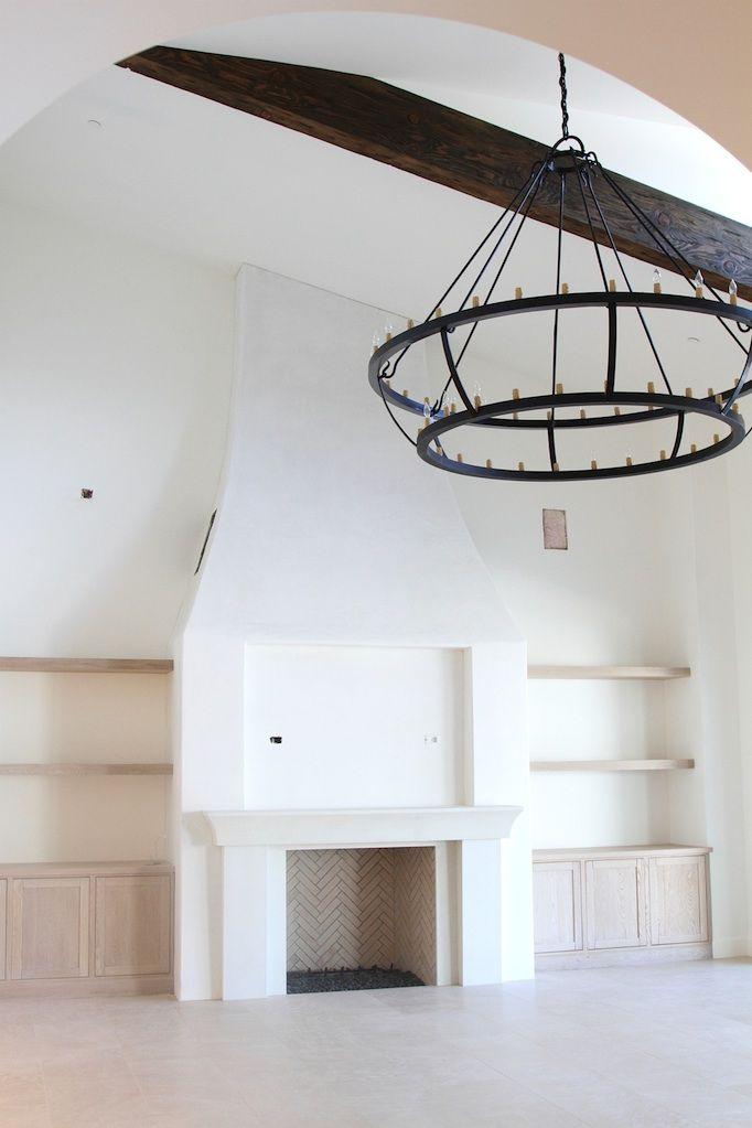 This Fireplace! Modern Mediterranean Home Owens and Davis.