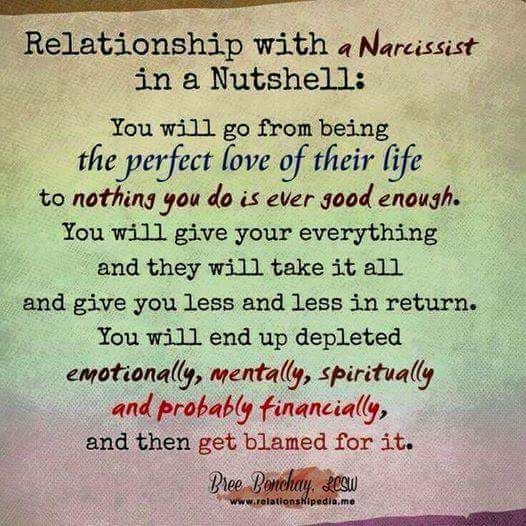 Relationship with a narcissist in a nutshell