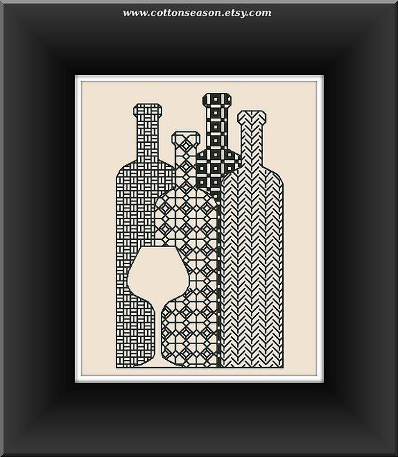 Free Applique wine glass Patterns | Blackwork pattern, Wine bottle selection, wine bottles | Flickr ...