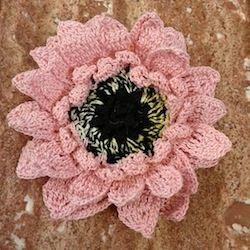 Gerbera Daisy Ornament Free Crochet Pattern!