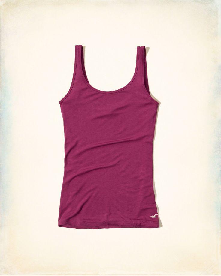 Girls Must-Have Slim Scoop Tank | Girls Tops | HollisterCo.com