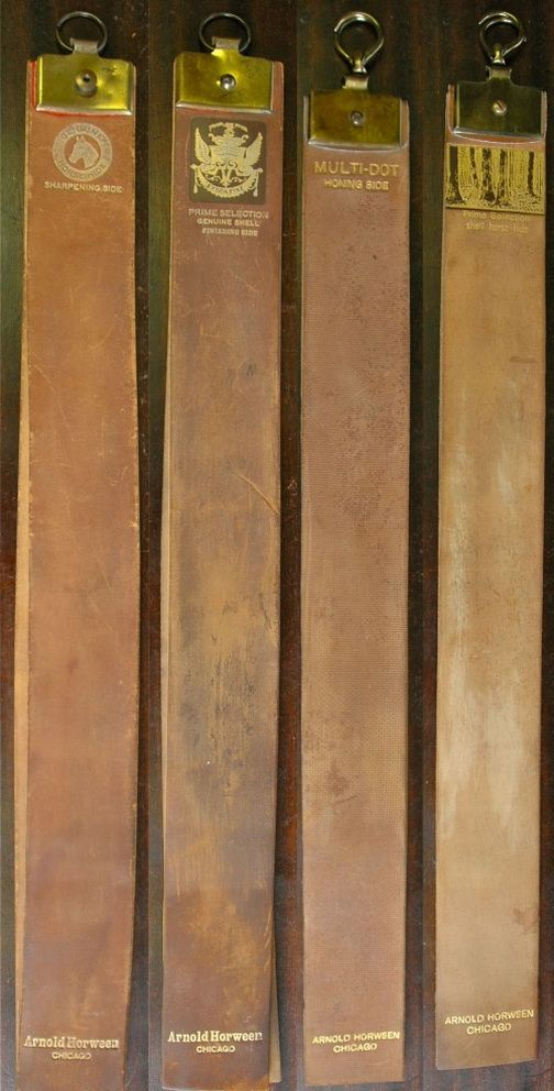 Traditional Cordovan Leather from Cordoba, Spain, Horween razor strops