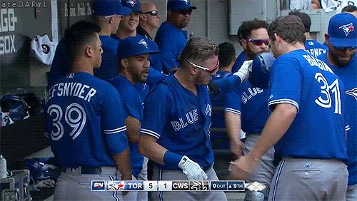 08/02/2017: Toronto Blue Jays @ Chicago White Sox- Josh & Joe, Best HR celebration. (Source: MLB.TV) Tumblr | Patreon