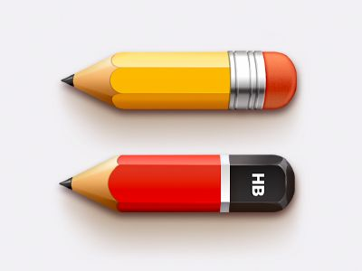 Pencils - 2 icons by Sanadas Young #icon #design #free #download #freebie