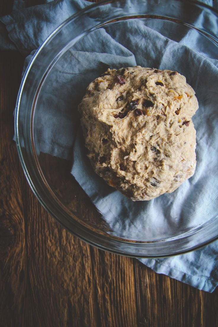 Fruit and nut muesli bread rounds recipe