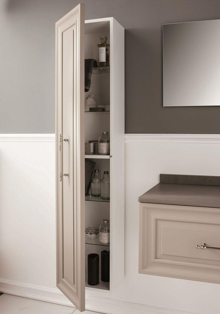 Colonna Quinta #GaiaMobili #gaia #bathroom #bagno #bathroomideas #bath #madeinitaly #italian #bathroompics #architect #interior #interiordesign #designer #furniture #wood #laccato #ral #lacquered #arredamento #showroom #mirror #luxurybathroom #classic #classicbathroom #arredobagno #mobiledabagno #ral #colonna #pensile