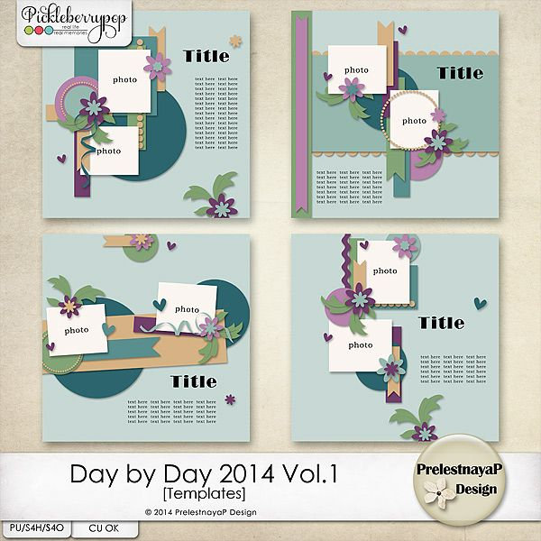 Day by Day 2014 Vol.1 Templates by PrelestnayaP Design
