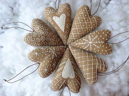 Куклы Тильды ручной работы. Ярмарка Мастеров - ручная работа. Купить Кофейные сердечки Тильда с ароматом корицы и ванили. Handmade.