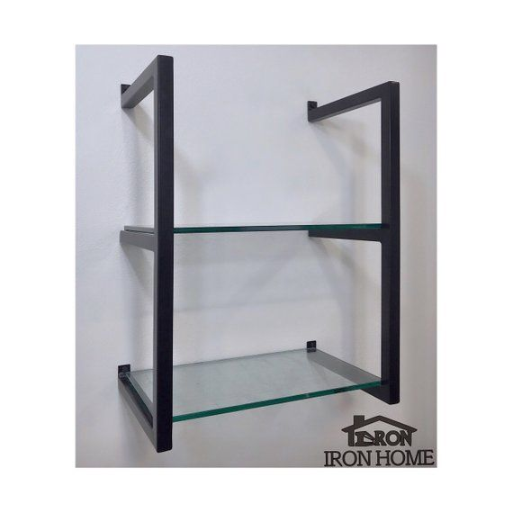 2 Shelf Unit With 12 Spacing And 10 Deep Shelvesour Original Framed Brackets With A New Twist Combined Shelves Floating Shelves Kitchen Floating Shelves Diy