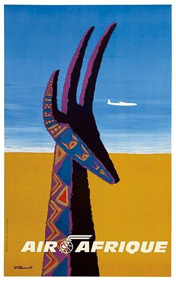 vintage Air Afrique poster.