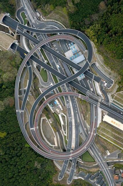 Intercambio Vial - CivilFree Takao area Hisashimichi interchange of Hachioji, Tokyo
