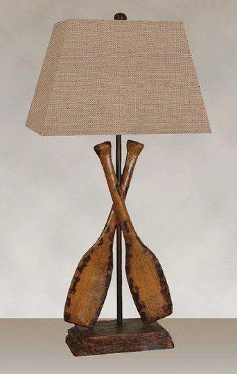 Oar lamp - perfect for a beach house