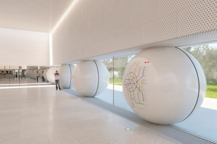 """Gallery of AI-Architects' Competition-Winning Moscow Metro Station Design Utilizes """"Friendly"""" Rounded Forms - 1"""