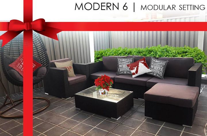 The Modern 6 lounge modular setting is perfect for any alfresco or patio