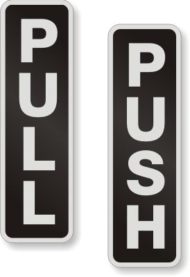 Aluminum Pull Push Door Sign, SKU - DP-0065