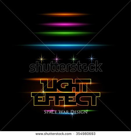 Light Effect for Space war design. Vector Background - stock vector