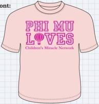Sweet Phi Mu philanthropy shirt!
