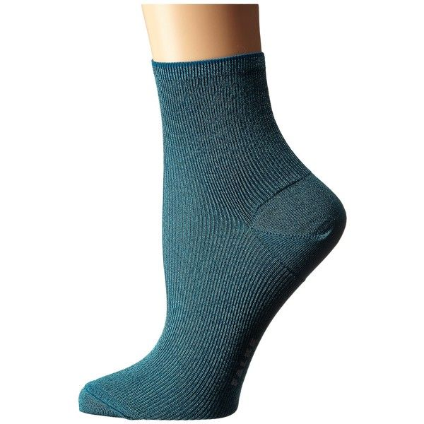 Falke Luminous Short Sock Women's Crew Cut Socks ($24) ❤ liked on Polyvore featuring intimates, hosiery, socks, metallic socks, crew length socks, tennis socks, ankle high hosiery and ankle high socks