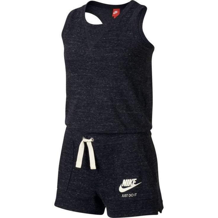 Nike Girls' Sportswear Vintage Romper, Size: Medium, Black