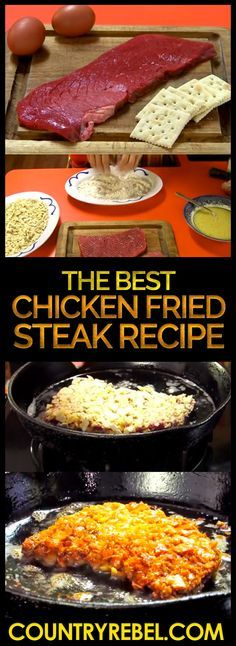 ... Chicken Fried Steak on Pinterest | Fried Steak, Steaks and Cream Gravy