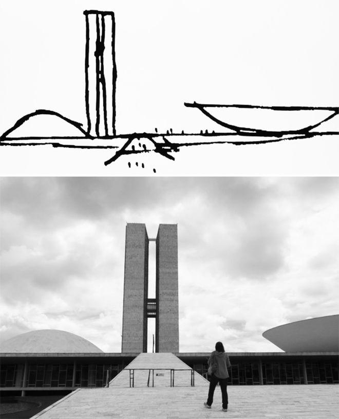 Palácio do Congresso Nacional, Brasília, Brazil (1960) / Oscar Niemeyer