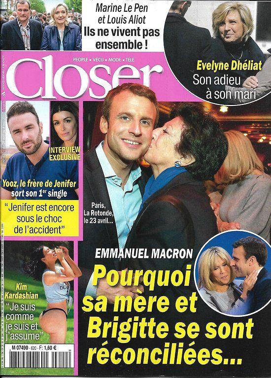 Closer n°620 28 avril 2017 macron/ dheliat/ le pen/ jooz