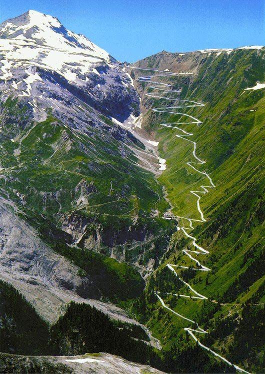 Passo dello Stelvio - Dolomites - Italy - One of the Giro d' Italia's toughest climbs