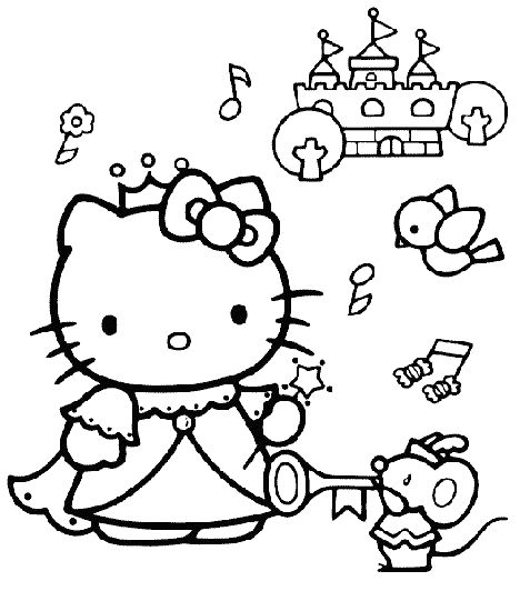 hello kitty color page coloring pages for kids cartoon characters coloring pages printable coloring pages color pages kids coloring pages