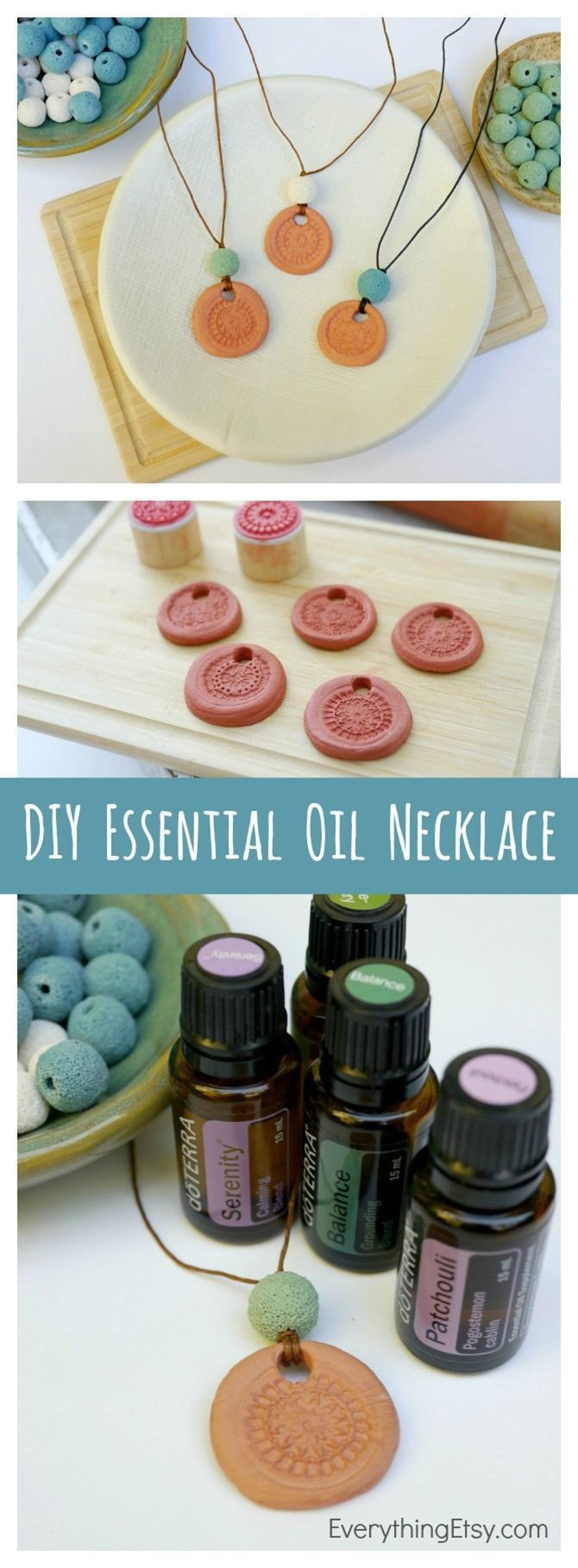 This DIY essential oil necklace makes for an unique mothers day gift! It's also an easy craft to diy for yourself - the calming scent is bound to relieve your stress.