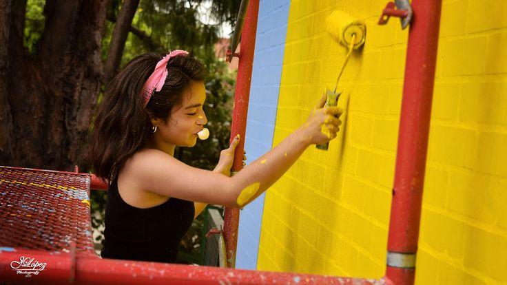 En el proyecto atrapasueños hubo solución hasta para el estres y aburrimiento, todos querían coger brocha en mano y arrancar a pintar.  #ProyectoAtrapaSueños #BogotaGraffiti #YoAmoBogotá