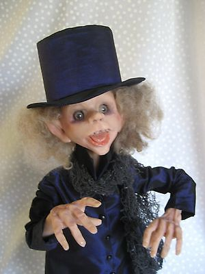 HALLOWEEN-GHOUL-One-of-a-Kind-Character-Doll-TERRY-RICHARDS-Come-C