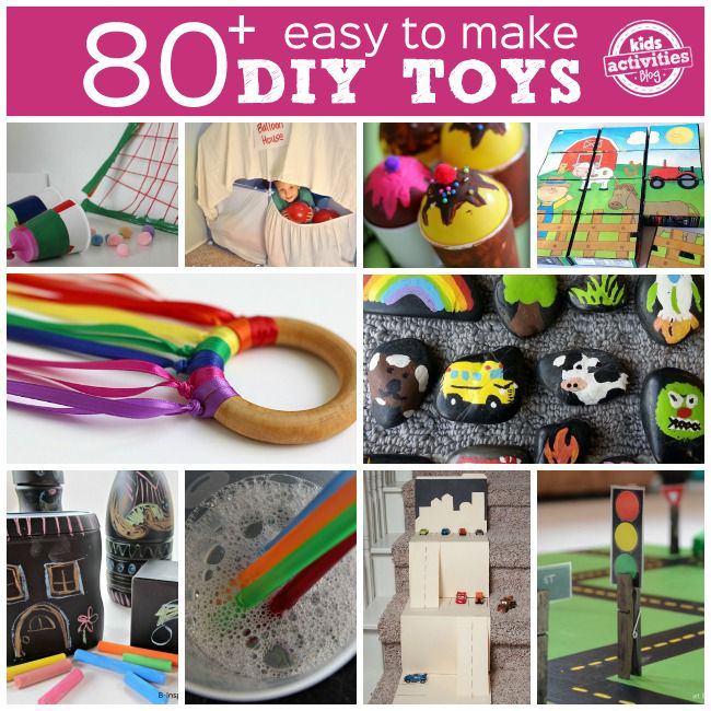 We've been gathering lots of ideas and tutorials for DIY toys and are sharing them here with you today!