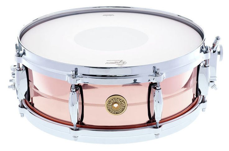 "Gretsch 14""x05"" USA Copper Snare Drum - Thomann www.thomann.de #snare #drums #gear #instrument #silver #pink #copper #pretty #beautiful #drummer #drums"