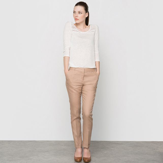 7/8 Linen Trousers with Italian Pockets
