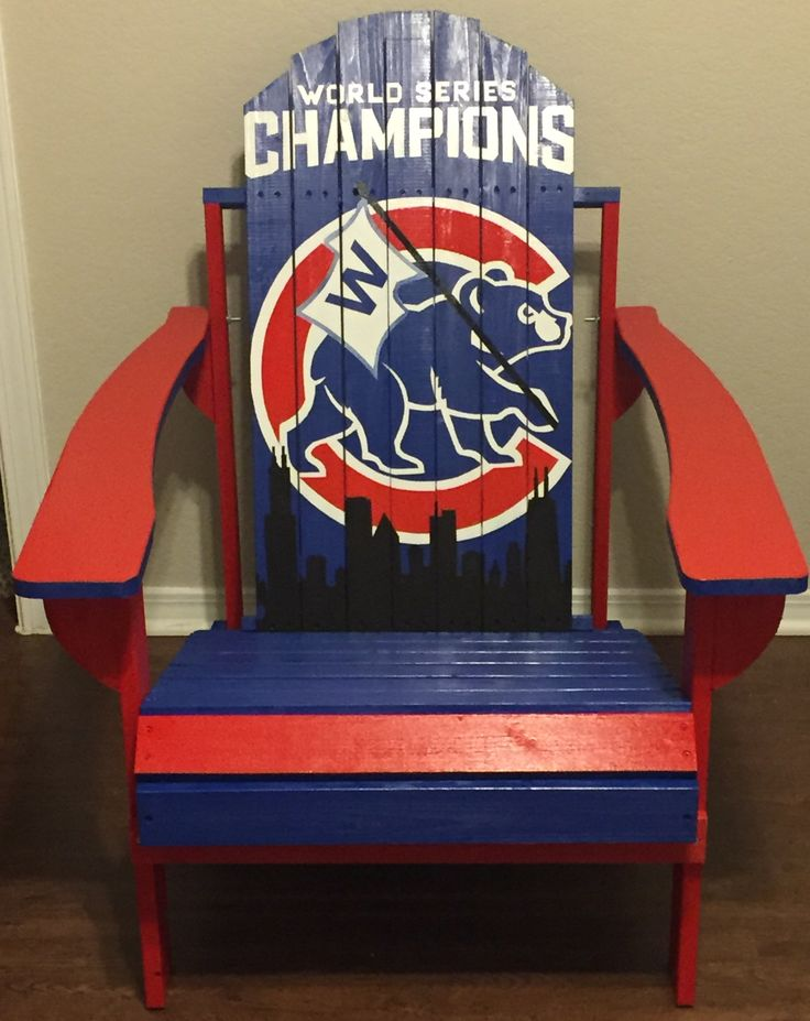 Adirondack Chairs, Chicago Cubs, Wood Projects