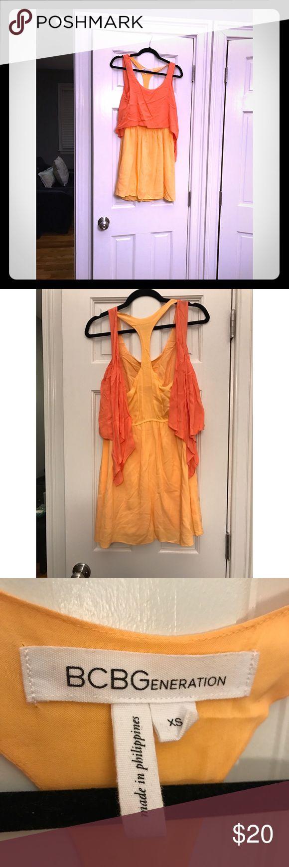 BCBGeneration Tangerine Dress - XS BCBGeneration Tangerine Dress - XS - Breezy and comfortable.. great color! BCBGeneration Dresses