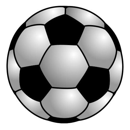 A big round cartoon soccer ball is the subject of this drawing lesson.