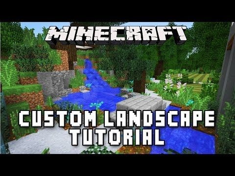 minecraft tutorial making a zen garden design modern build house ep36 - Garden Design Game