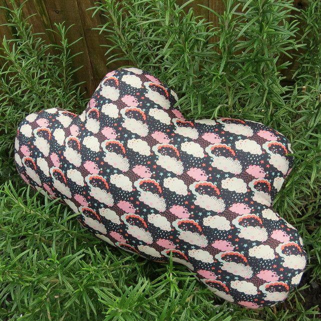 A cloud cushion.  Made from Liberty Lawn.  41cm x 23cm.  Nursery Decor. £18.00