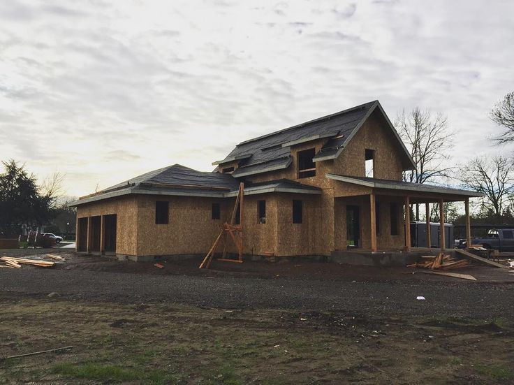 Windows coming soon! Hopefully before our first snow next week! ❄️ #sugarberrycottage #oregon #homesweethome #homebuilding #underconstruction #southernliving #newhouse #countryliving #modernfarmhouse #farmhouse