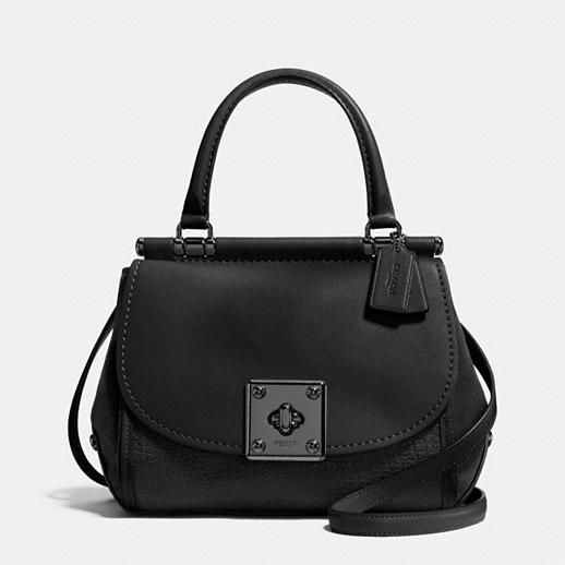 COACH DRIFTER top handle satchel in mixed leather STYLE NO. 38388