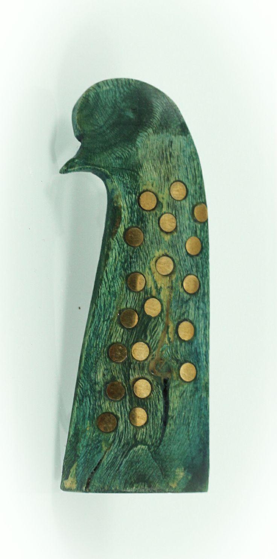 Free bird brooch, yew wood/bronze, 7cm. www.leontinpaun.ro Buy online - www.fine-art.ro