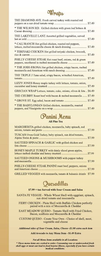 21 best images about american menu on pinterest bakeries for Sandwich shop menu template
