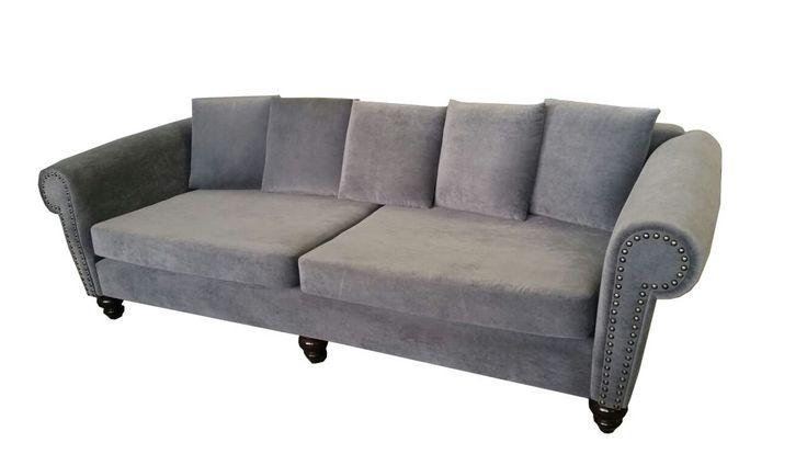 XXL BIG Sofa Couch Chesterfield Polster Leder Textil Stoff Garnitur 250cm Neu