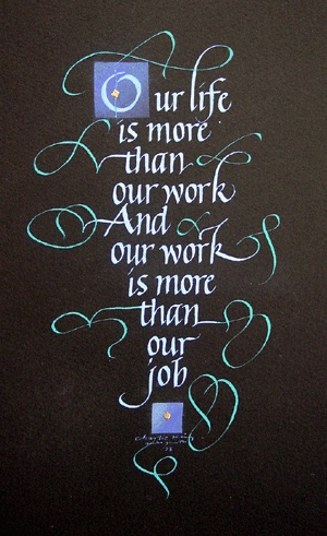pinning this on quotes because I love the words, but great calligraphy too!