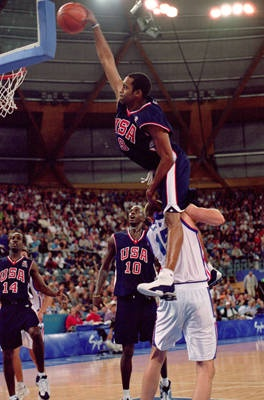 Vince Carter's dunk over 7-foot-1 French center Frederic Weis was the ultimate poster dunk in 2000 Olympic
