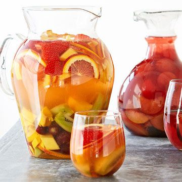 Tropical White Sangria will be your new favorite cocktail party pitcher!